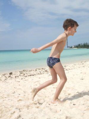 Eskil on the beach